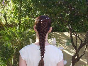 Five strands Dutch braid